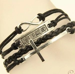 Jewelry - Black leather bracelet